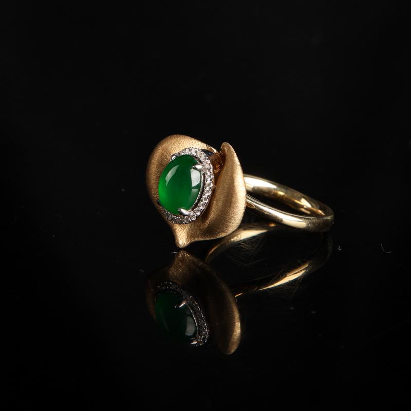 缅甸翡翠戒指-红掌柜