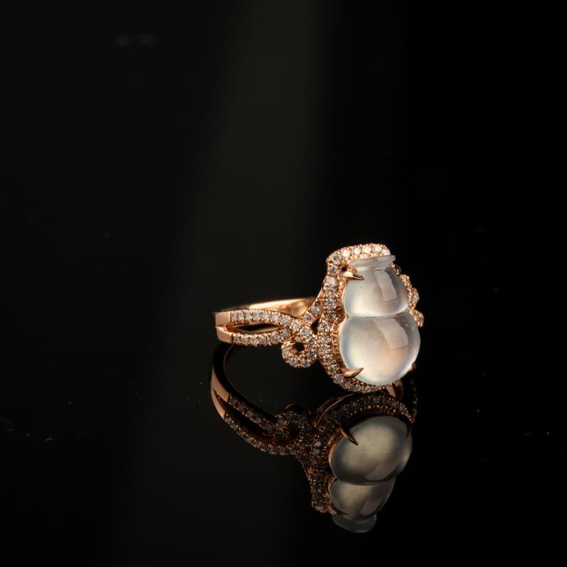冰種翡翠葫蘆戒指-紅掌柜