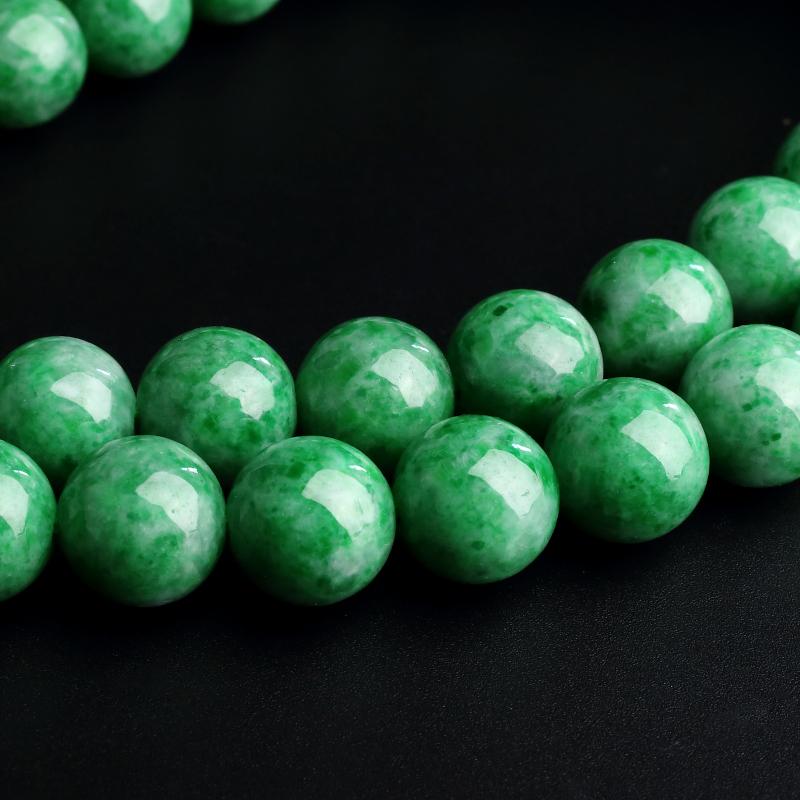 缅甸A货天然糯种满绿翡翠项链 - 红掌柜