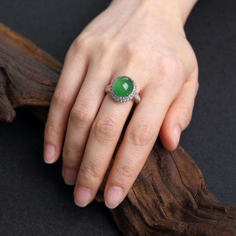 天然翡翠戒指-红掌柜