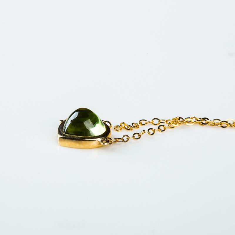 天然金黄绿色橄榄石手链-红掌柜