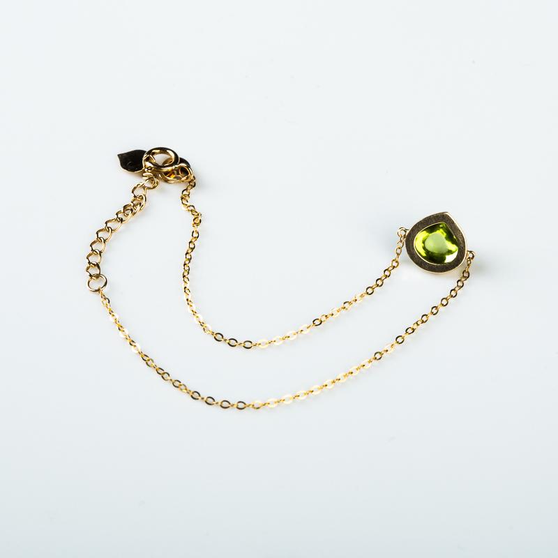 巴西天然绿色橄榄石手链-红掌柜