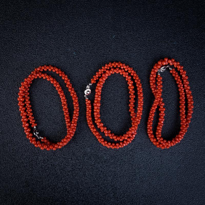 沙丁珊瑚兽骨项链-红掌柜