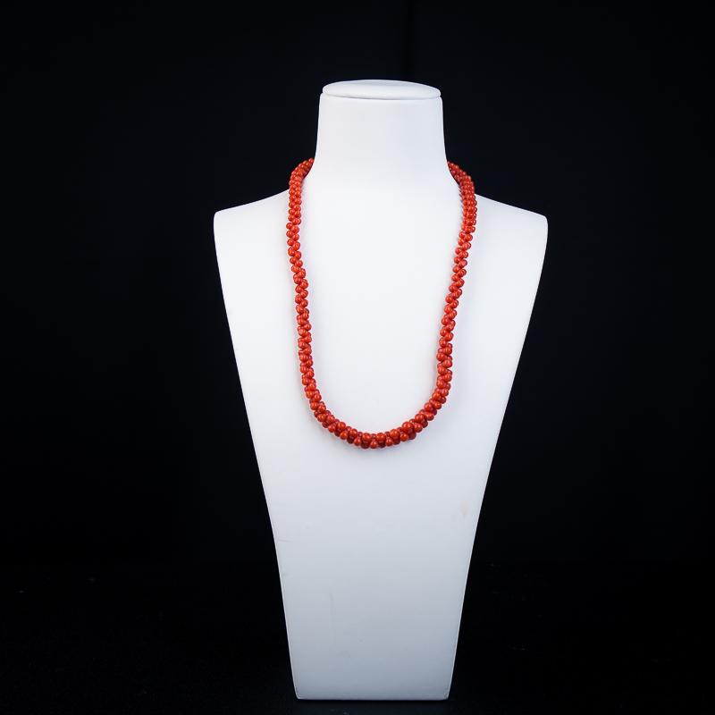 沙丁正红珊瑚项链-红掌柜