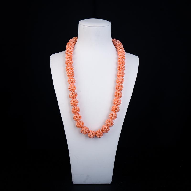 MISU粉色珊瑚项链-红掌柜