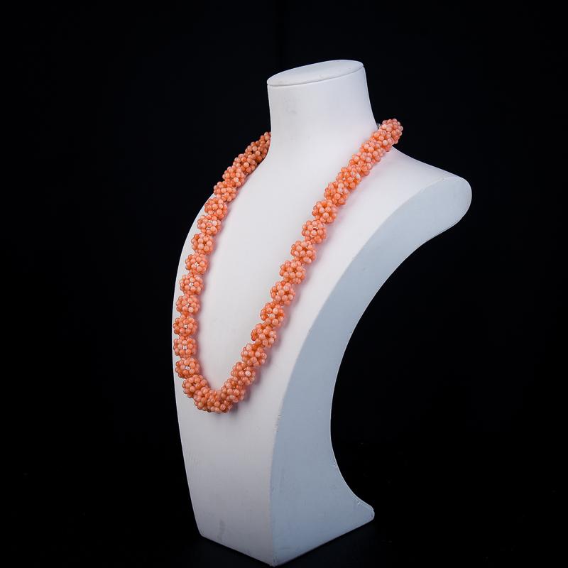 粉色珊瑚項鏈-紅掌柜