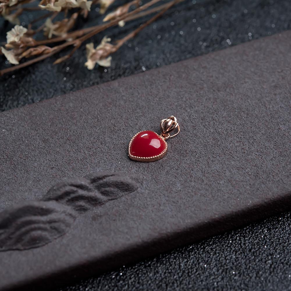 深红珊瑚吊坠-红掌柜