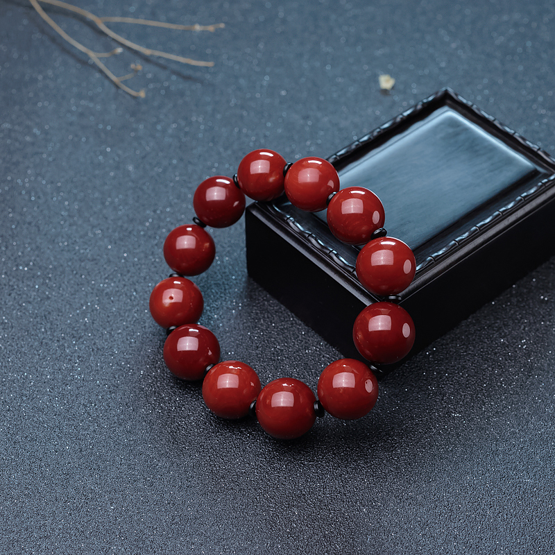 17mm阿卡牛血红珊瑚单圈手串-红掌柜