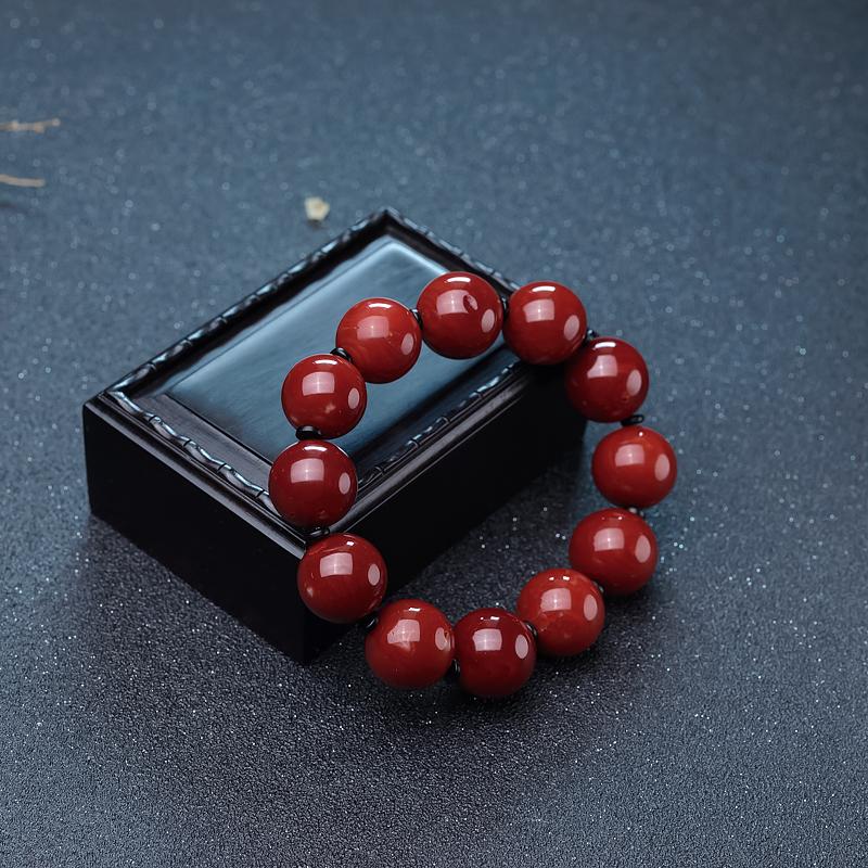 阿卡牛血红珊瑚单圈手串-红掌柜