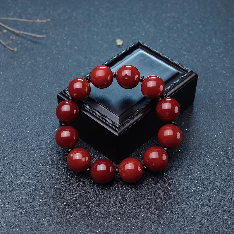 牛血紅珊瑚單圈手串-紅掌柜