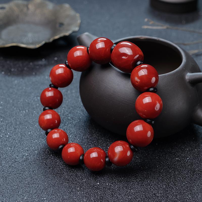 珊瑚单圈手串-红掌柜
