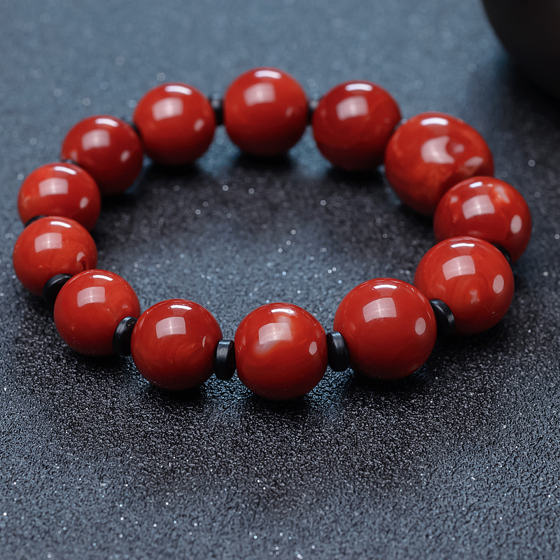 日本阿卡珊瑚單圈手串-紅掌柜