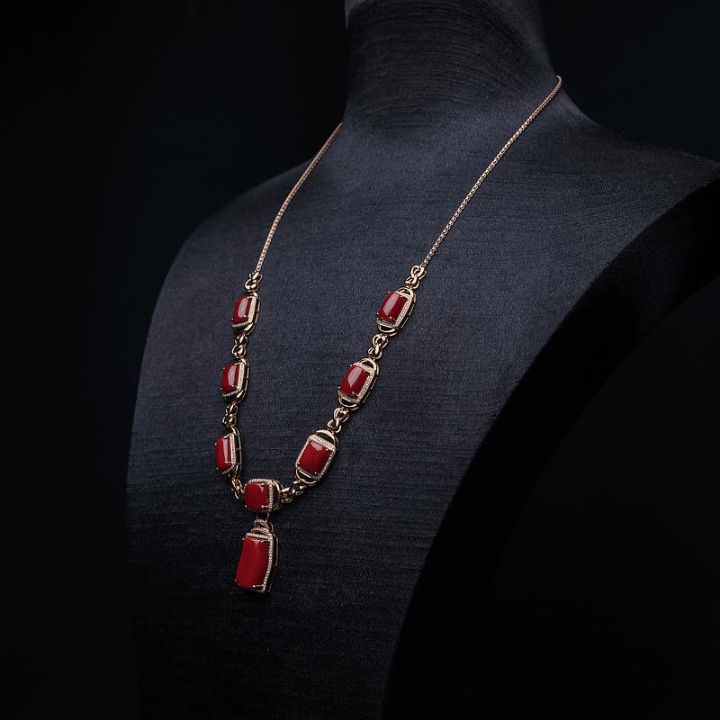 阿卡牛血红珊瑚项链-红掌柜