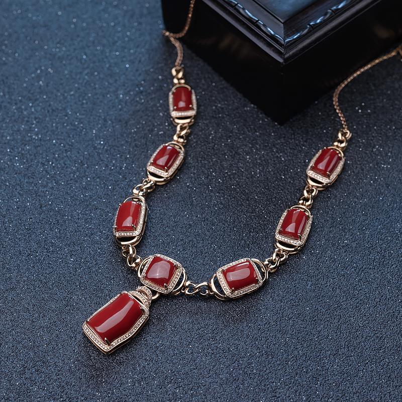 阿卡红珊瑚项链-红掌柜