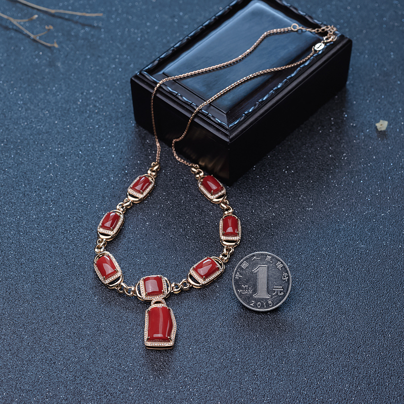 天然红珊瑚项链-红掌柜