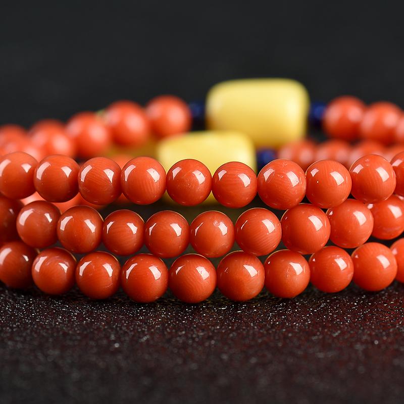 沙丁珊瑚手串-紅掌柜