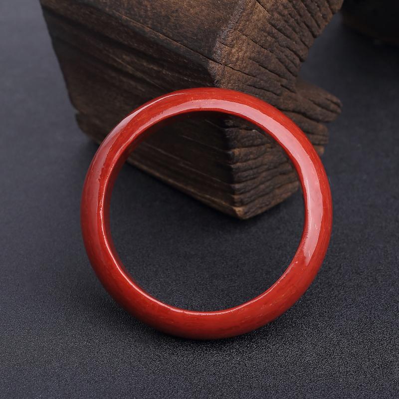 意大利天然沙丁正红珊瑚拼接平安镯-红掌柜