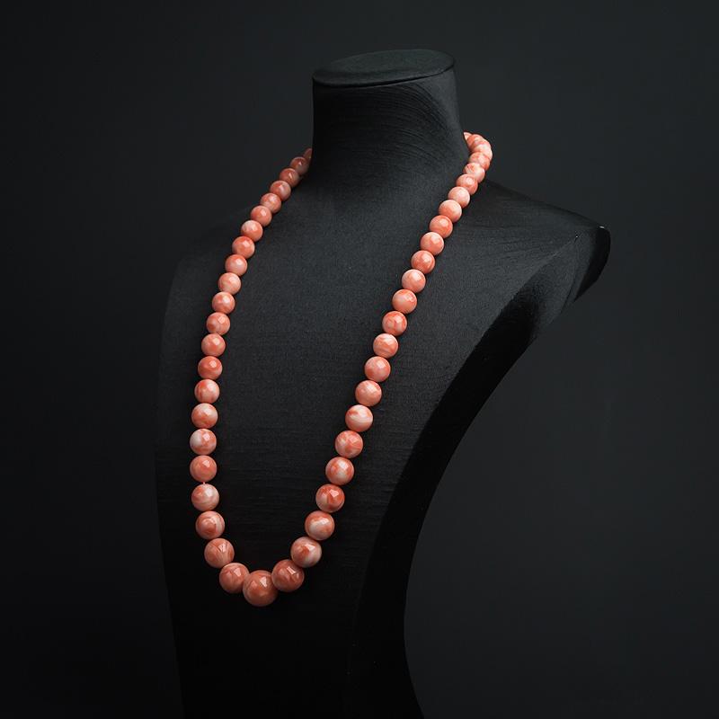天然MISU粉色珊瑚塔链-红掌柜