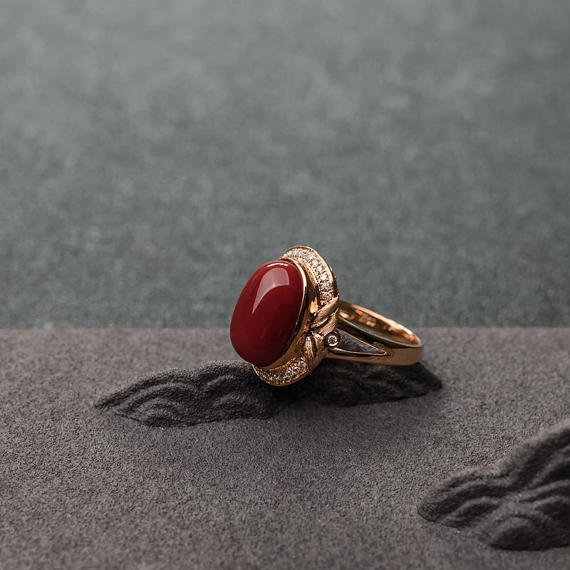 阿卡深紅珊瑚戒指-紅掌柜