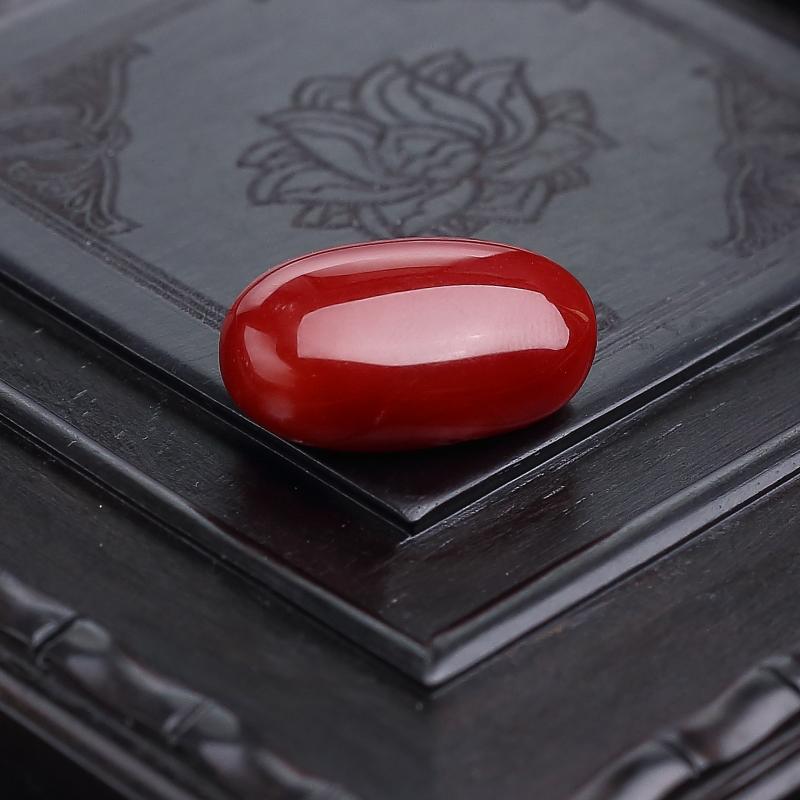阿卡正紅珊瑚戒面-紅掌柜