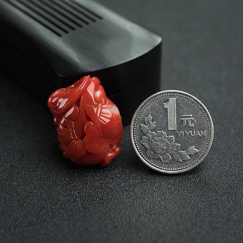 日本天然阿卡红珊瑚-红掌柜