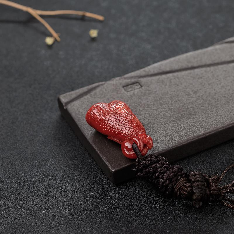 日本天然阿卡正红珊瑚吊坠-红掌柜