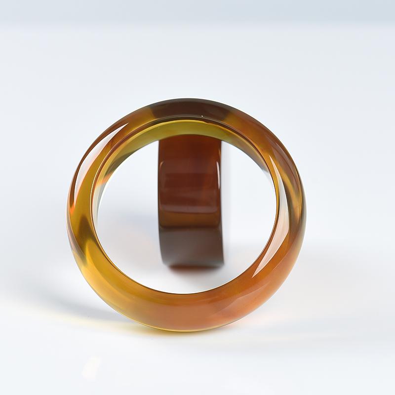52.5mm棕珀手镯套装-红掌柜