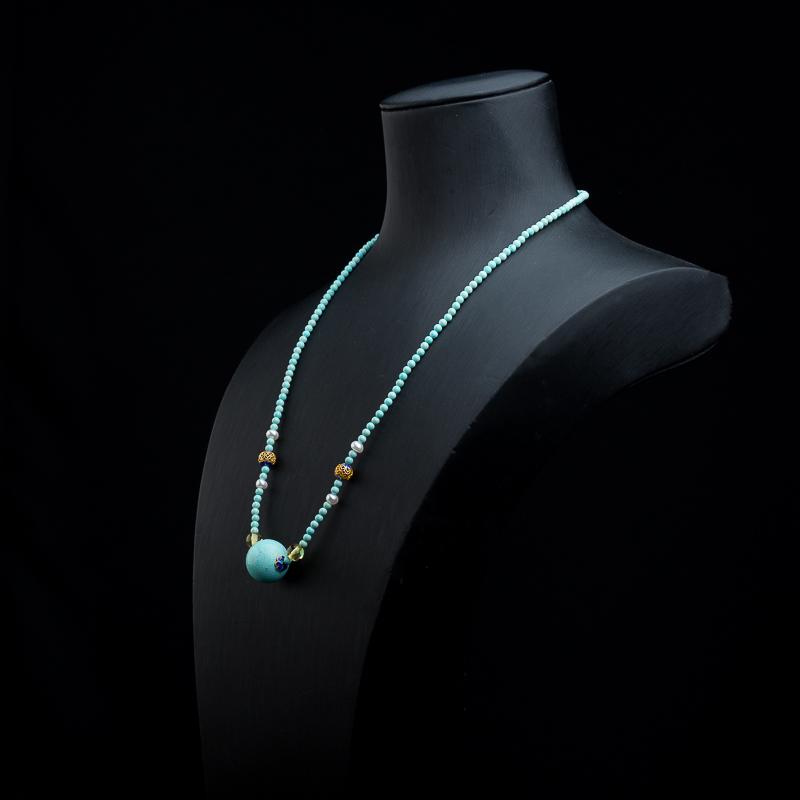 蓝绿松石项链-红掌柜