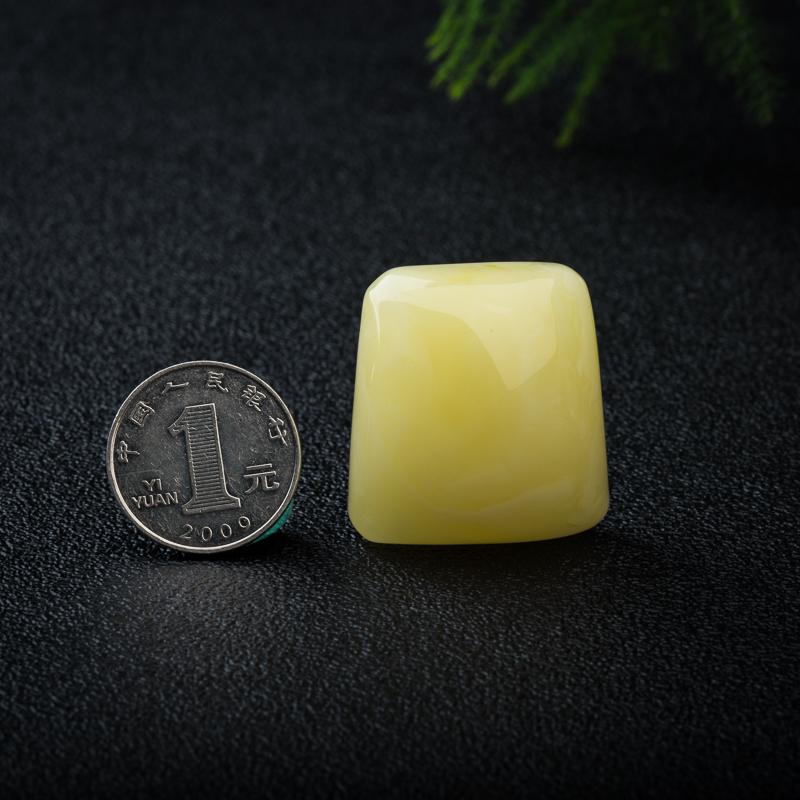 天然波罗的海柠檬黄蜜蜡无事牌吊坠-红掌柜