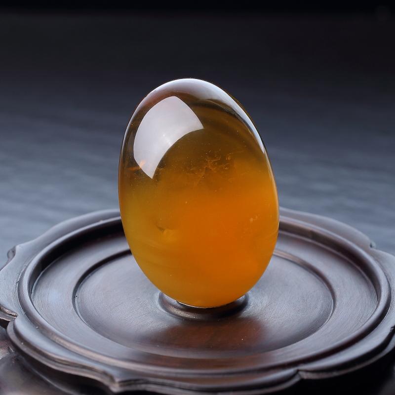 天然鸡油黄金绞蜜随形吊坠-红掌柜