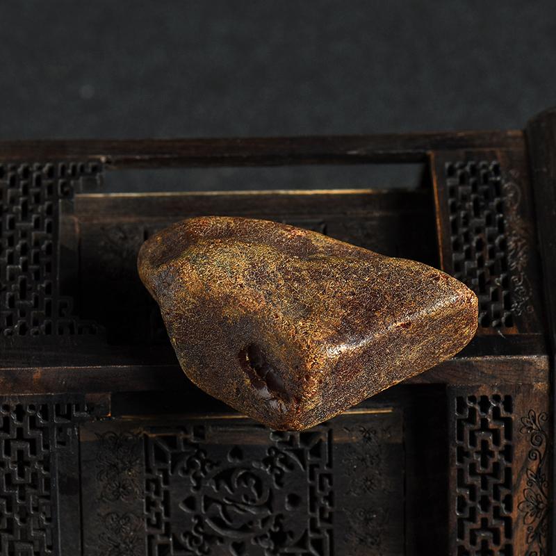 天然带皮蜜蜡原矿-红掌柜