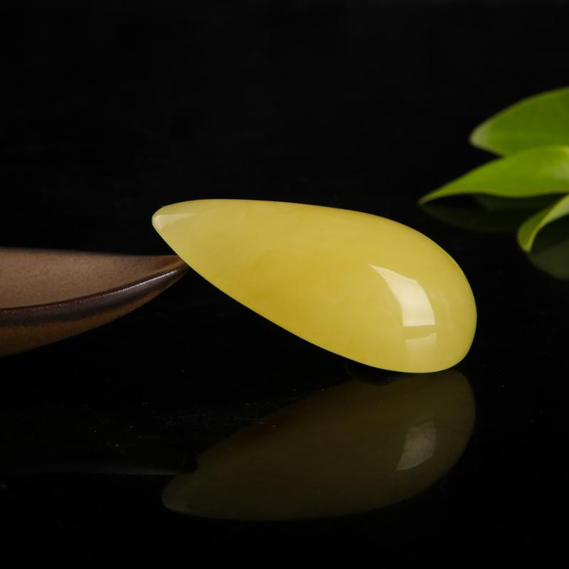 天然雞油黃蜜蠟隨形吊墜-紅掌柜