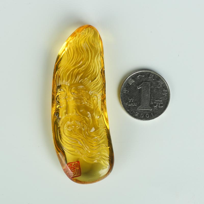 雞油黃天然蜜蠟吊墜-紅掌柜