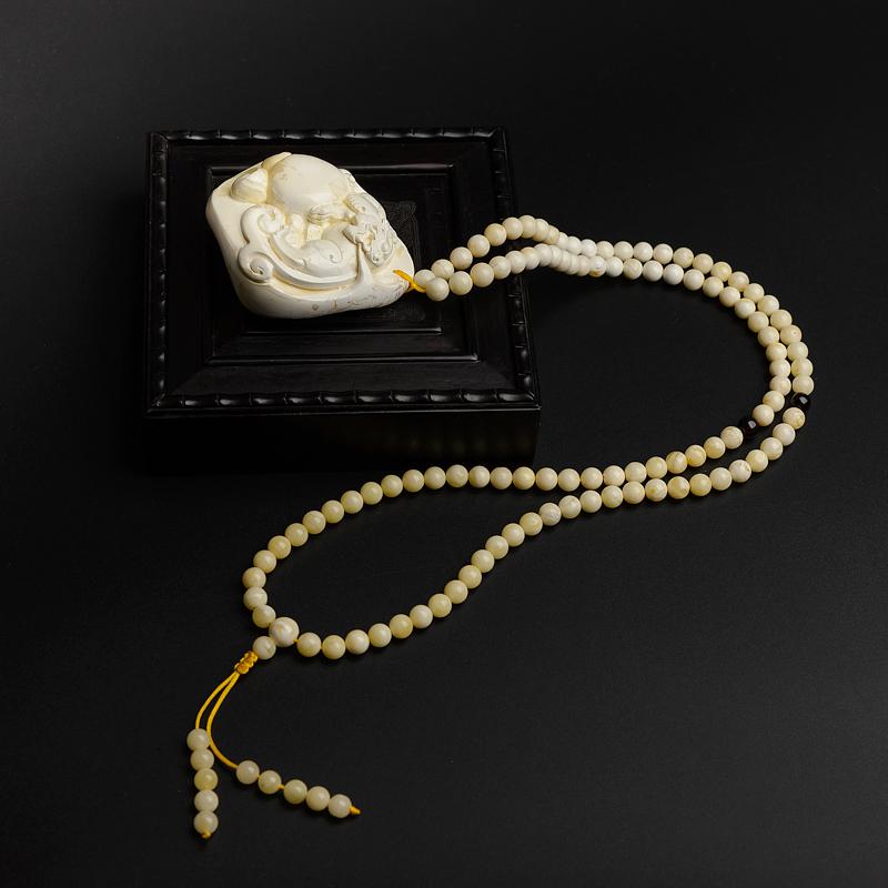 天然白蜜蜜蜡貔貅项链-红掌柜