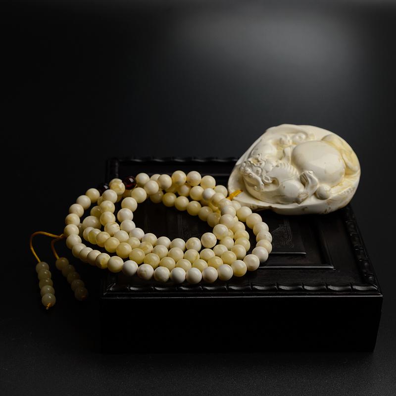 波罗的海天然白蜜蜜蜡项链-红掌柜