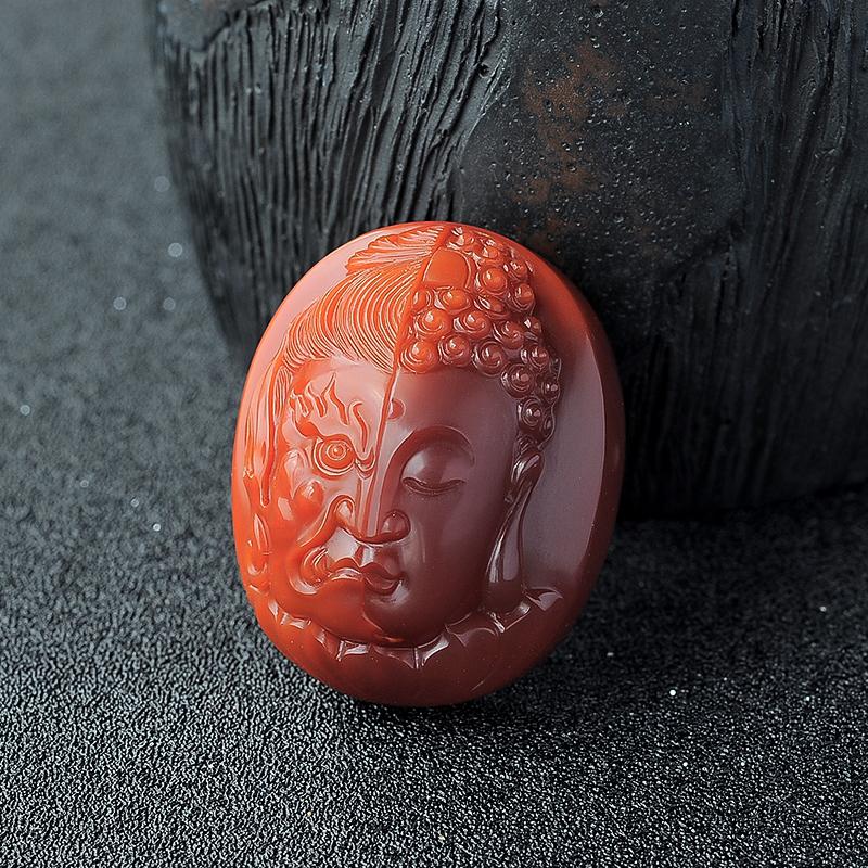 南红佛挂件 - 红掌柜珠宝
