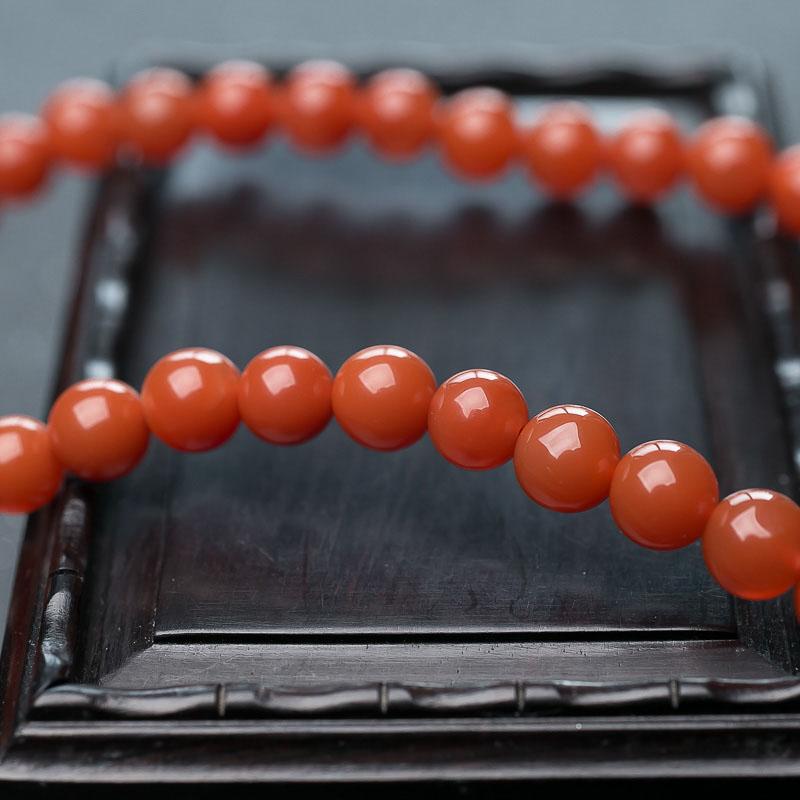 柿子红南红佛珠-红掌柜