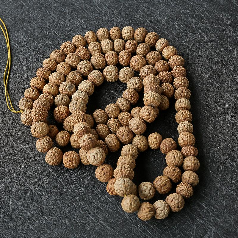 黄皮金刚菩提子108 - 红掌柜珠宝