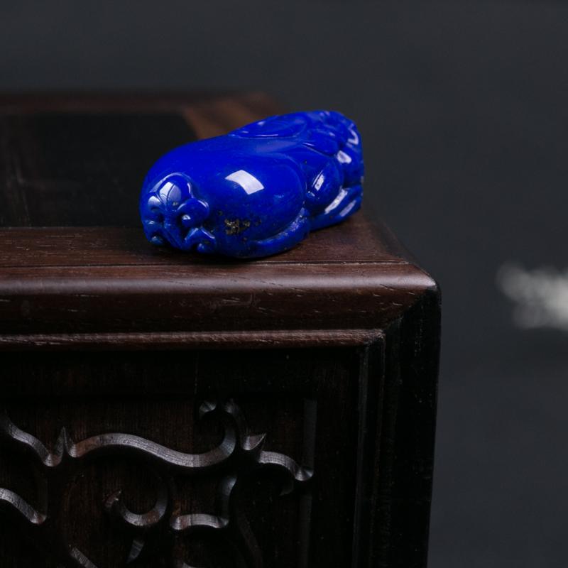 阿富汗深蓝色青金石貔貅吊坠-红掌柜