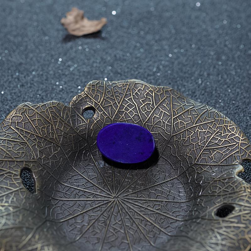 阿富汗天然青金石蛋面形戒面-红掌柜