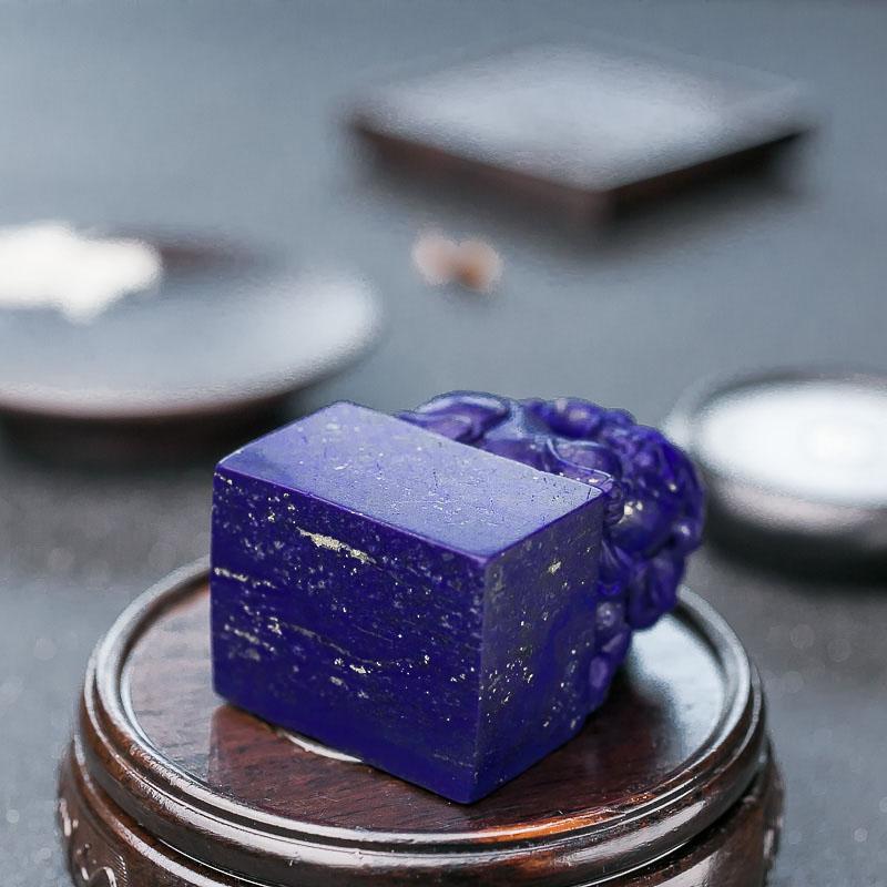 紫蓝色青金石弥勒佛-红掌柜