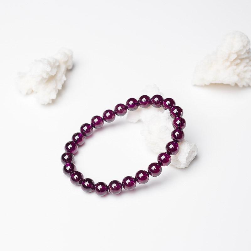 紫色石榴石单圈手串-红掌柜