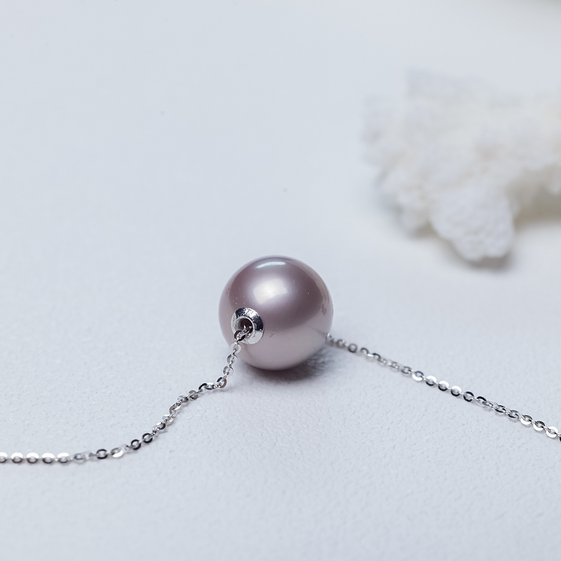紫色珍珠项链-红掌柜