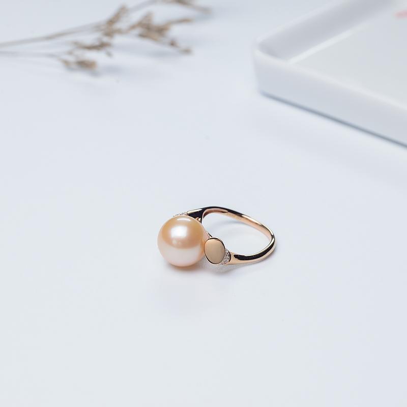 18K粉色珍珠戒指-红掌柜